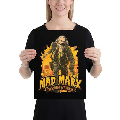 The Philosopher's Shirt Poster Mad Marx - The Class Warrior <br><br>Poster