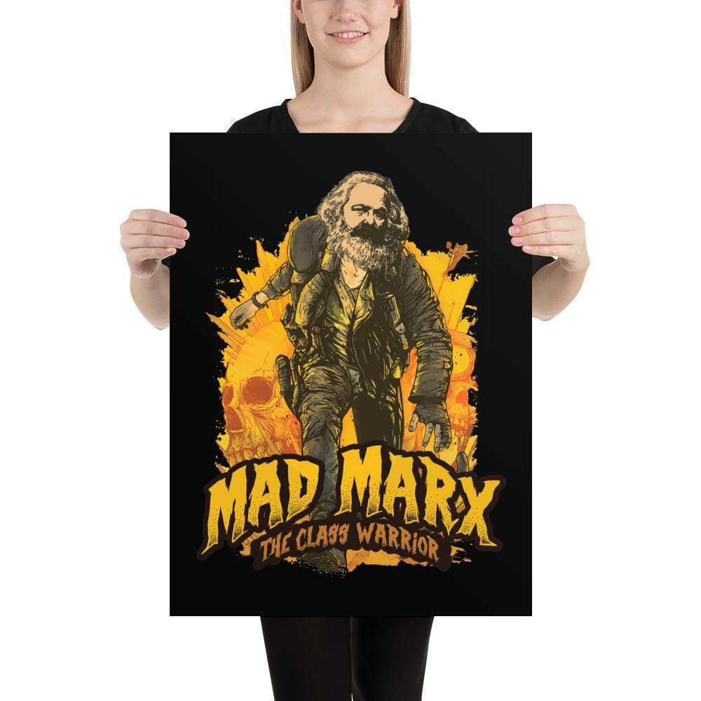 The Philosopher's Shirt Mad Marx - The Class Warrior <br><br>Poster