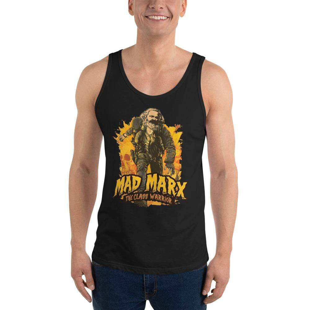 The Philosopher's Shirt Mad Marx - The Class Warrior <br><br>Unisex Tank Top