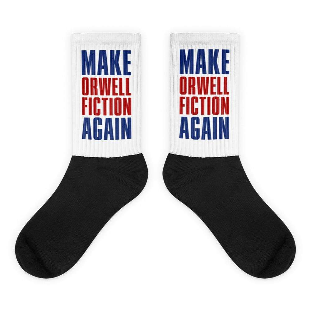 The Philosopher's Shirt Make Orwell Fiction Again Block Text <br><br>Socks