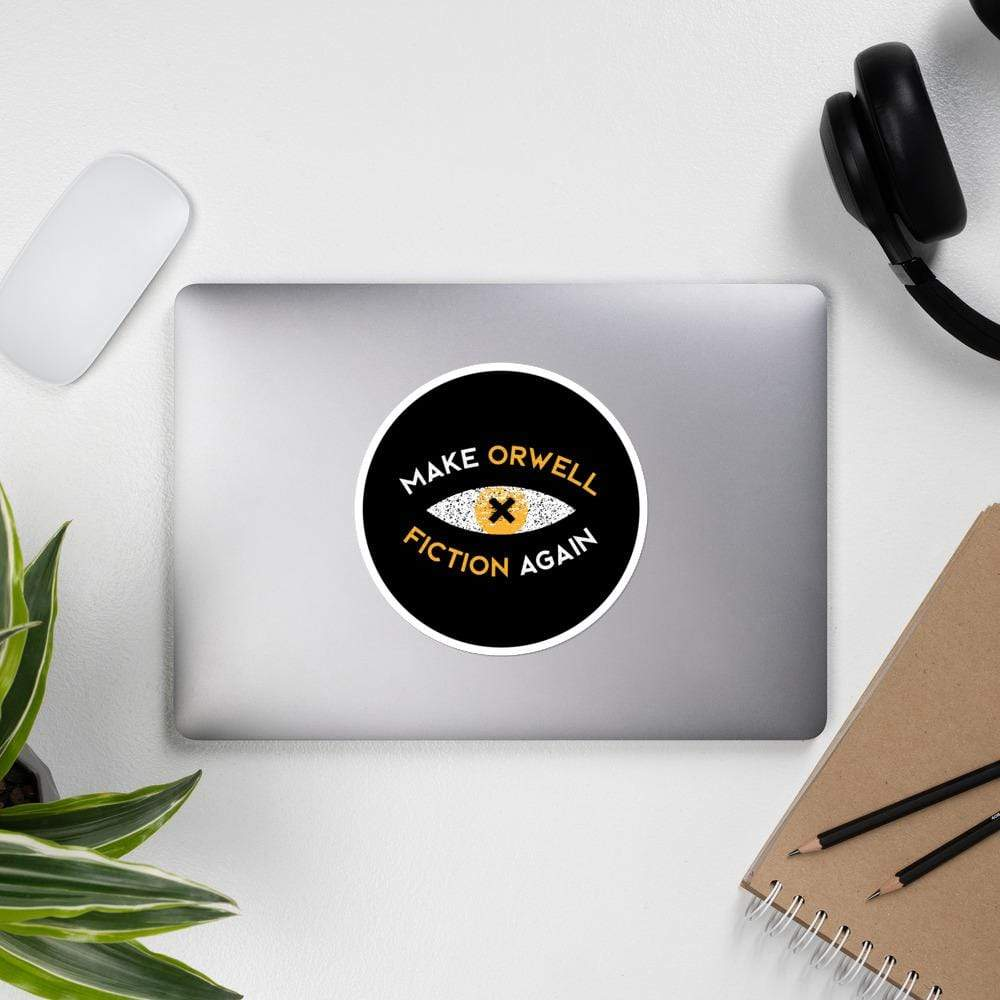 The Philosopher's Shirt Make Orwell Fiction Again Recon Eye <br><br>Sticker