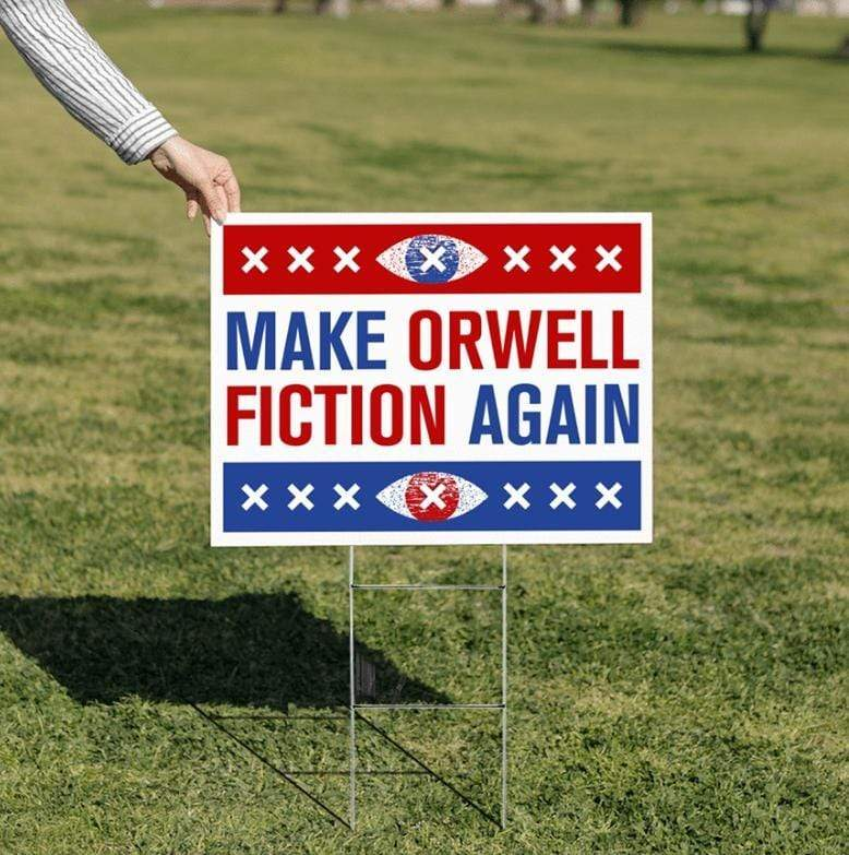 "The Philosopher's Shirt Yard Sign - MOFA Make Orwell Fiction Again - Yard Sign 18"" x 24"""