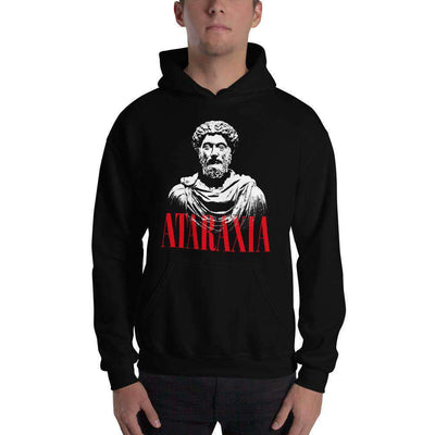 The Philosopher's Shirt Hoodie Marc Aurel Bust - Ataraxia Stoic Ethics