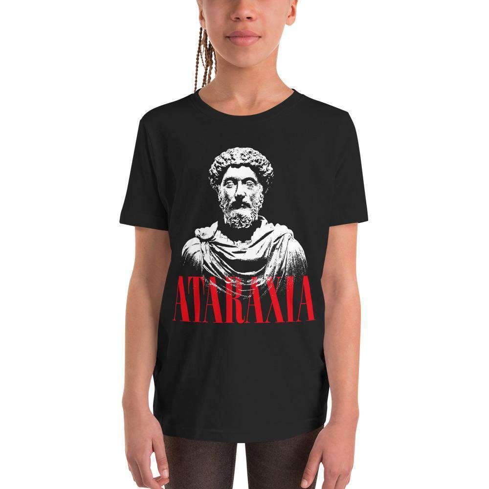 The Philosopher's Shirt Kids Shirt Marc Aurel Bust - Ataraxia Stoic Ethics