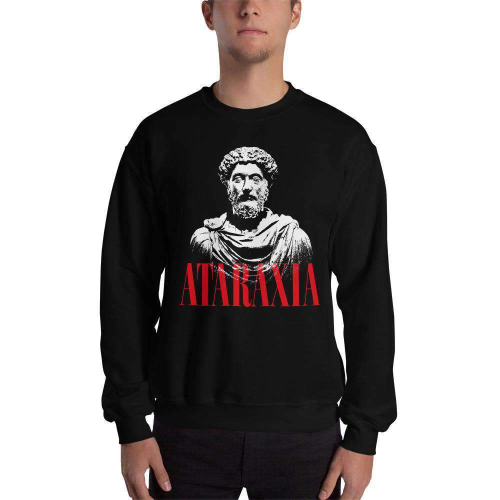 The Philosopher's Shirt Sweatshirt Marc Aurel Bust - Ataraxia Stoic Ethics