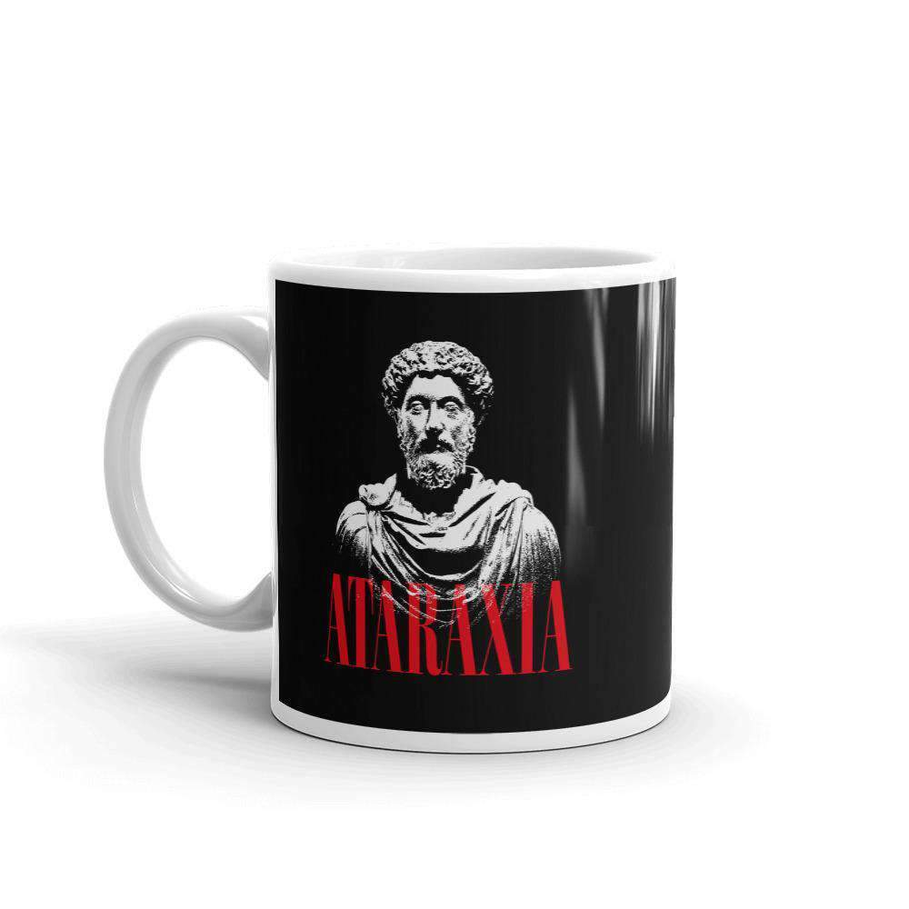 The Philosopher's Shirt Mug Marc Aurel Bust - Ataraxia Stoic Ethics