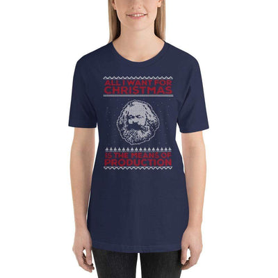The Philosopher's Shirt Unisex Basic T-Shirt Marx - All I Want For Christmas Is The Means Of Production <br><br>Unisex Basic T-Shirt