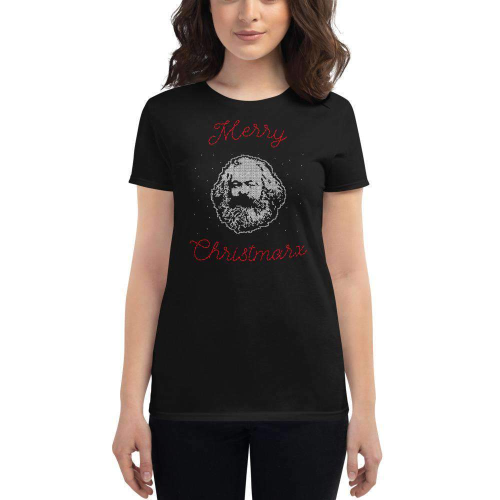 The Philosopher's Shirt Women's T-Shirt Merry Christmarx - Ugly Christmas Sweater Design