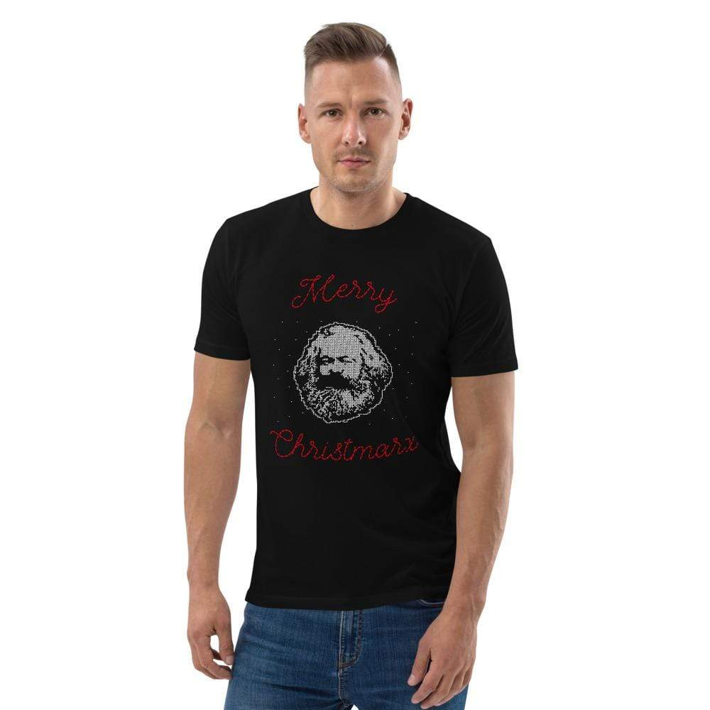 The Philosopher's Shirt Merry Christmarx - Ugly Christmas Sweater Design <br><br>Unisex Organic T-Shirt