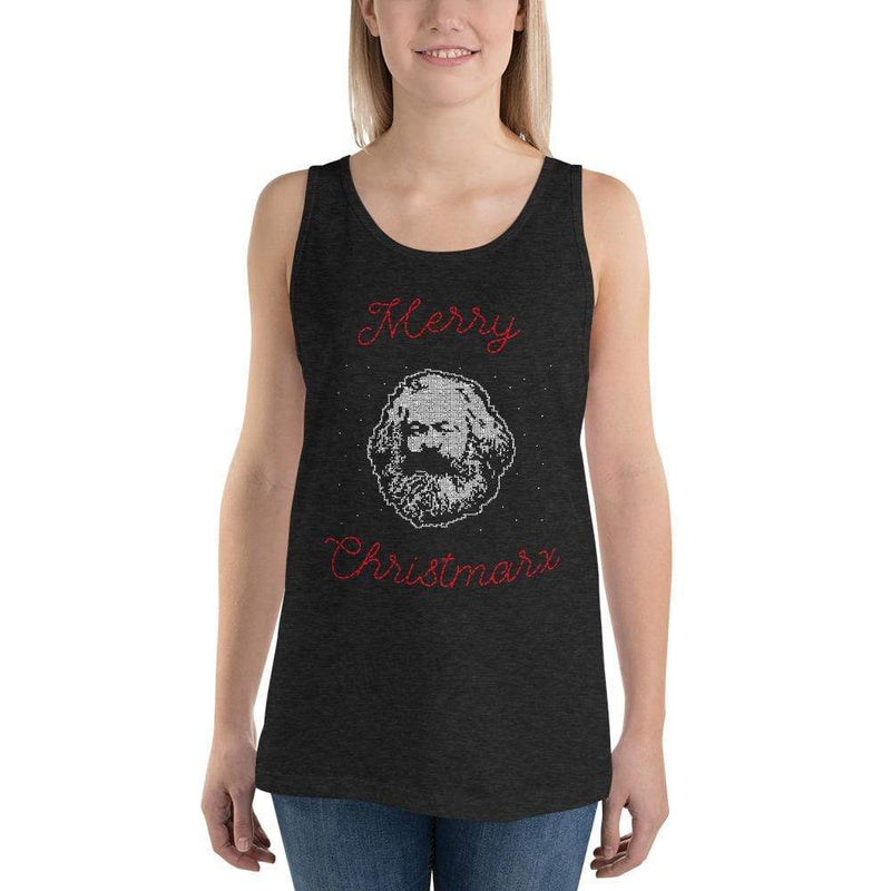 The Philosopher's Shirt Unisex Tank Top Merry Christmarx - Ugly Christmas Sweater Design <br><br>Unisex Tank Top
