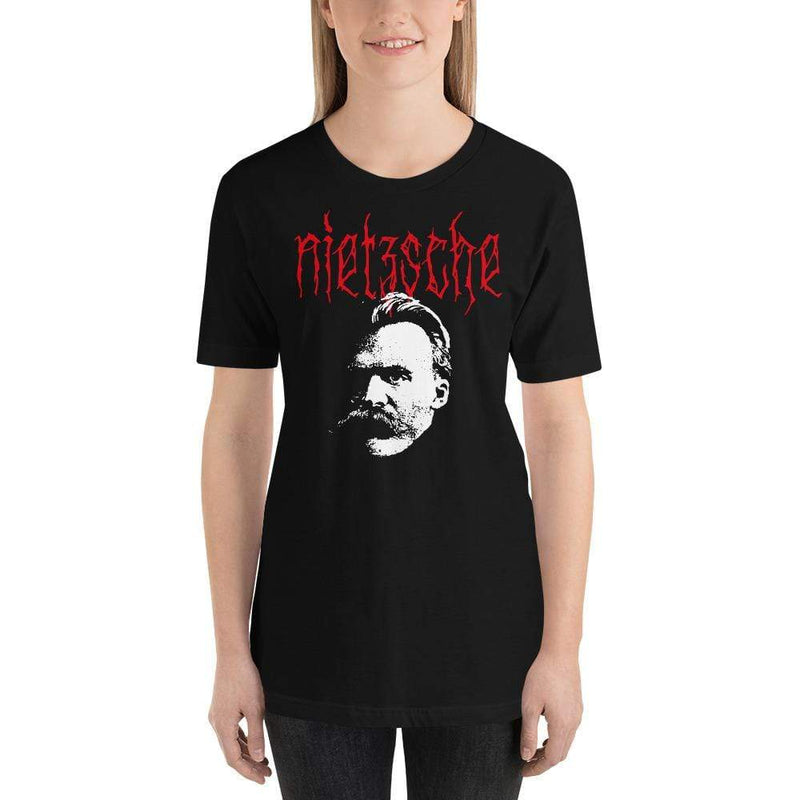 The Philosopher's Shirt Unisex T-Shirt Metal Philosophers - Nietzsche <br><br>Unisex T-Shirt