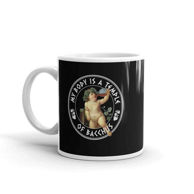 The Philosopher's Shirt Mug My Body Is A Temple Of Bacchus