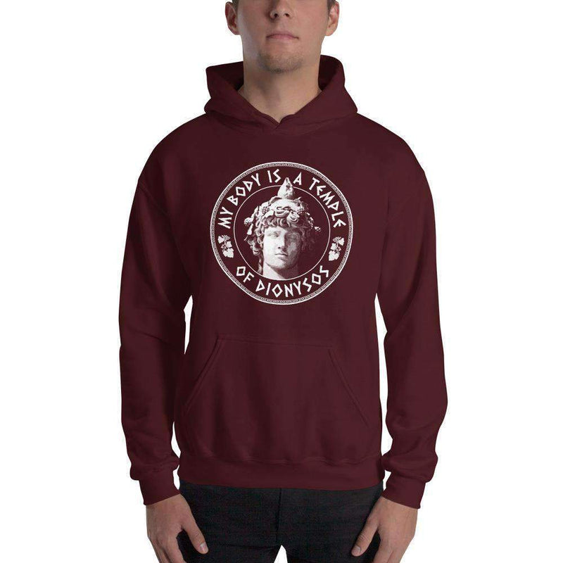 The Philosopher's Shirt Hoodie My Body Is A Temple Of Dionysos