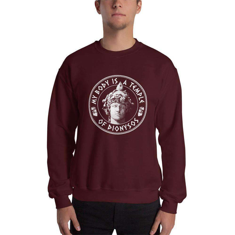 The Philosopher's Shirt Sweatshirt My Body Is A Temple Of Dionysos