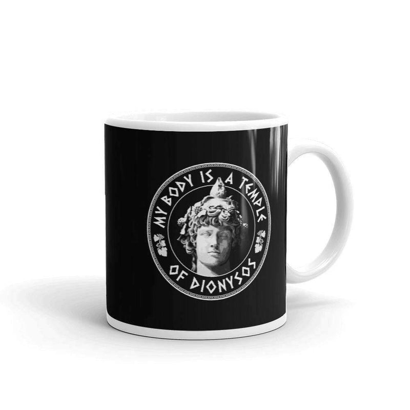 The Philosopher's Shirt Mug My Body Is A Temple Of Dionysos