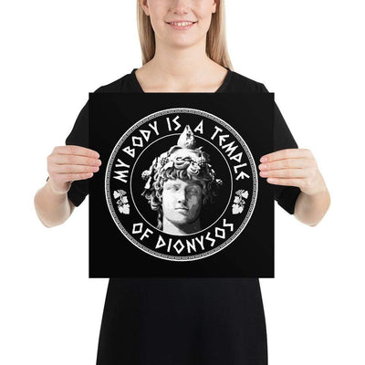 The Philosopher's Shirt My Body Is A Temple Of Dionysos <br><br>Poster