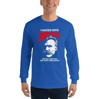 The Philosopher's Shirt Long-Sleeve Tee Nietzsche - I Gazed Into The Abyss <br><br>Long-Sleeved Shirt