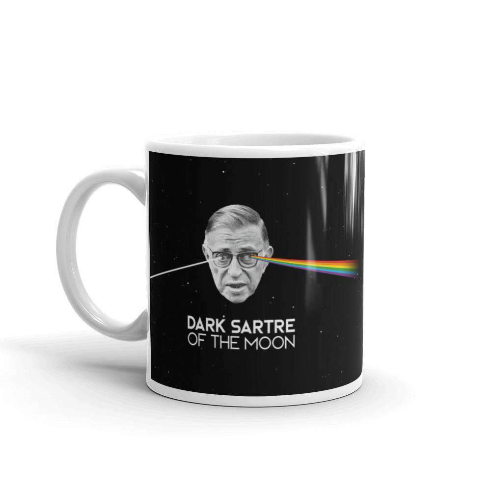 The Philosopher's Shirt Mug Peak Absurdism - The Dark Sartre Of The Moon