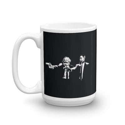 The Philosopher's Shirt Mug Philo Fiction - Marx & Engels