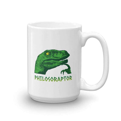 The Philosopher's Shirt Mug Philosoraptor