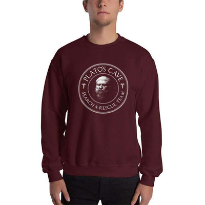 The Philosopher's Shirt Sweatshirt Plato's Cave Search and Rescue Team
