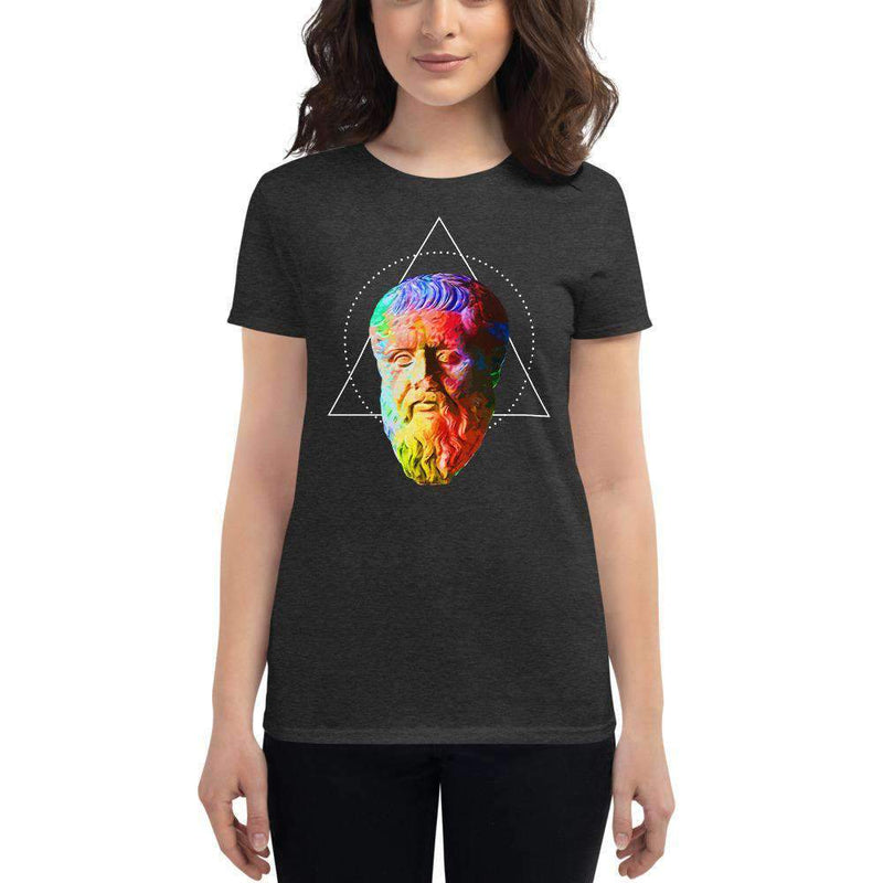 The Philosopher's Shirt Women's T-Shirt Plato - Vivid Colours For Trippy Heads