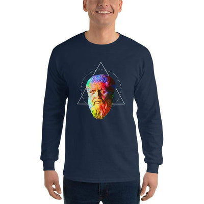 The Philosopher's Shirt Long-Sleeve Tee Plato - Vivid Colours For Trippy Heads <br><br>Long-Sleeved Shirt