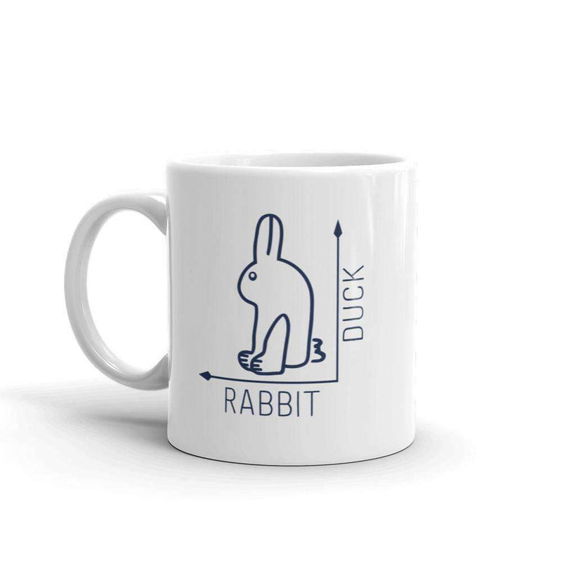 The Philosopher's Shirt Mug Rabbit-Duck Illusion - Duck Edition