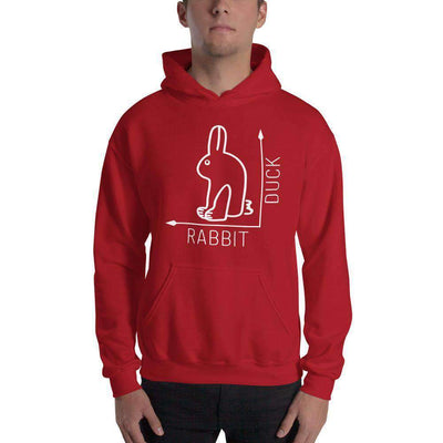 The Philosopher's Shirt Hoodie Rabbit-Duck Illusion - Rabbit Edition
