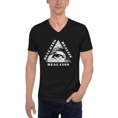 The Philosopher's Shirt Unisex V-Neck Shirt Real Eyes Realize Real Lies - All seeing eye <br><br>Unisex V-Neck T-Shirt