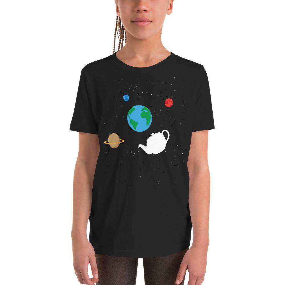 The Philosopher's Shirt Kids Shirt Russell's Teapot Floating in Space