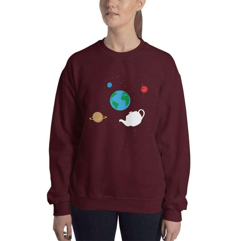 The Philosopher's Shirt Sweatshirt Russell's Teapot Floating in Space