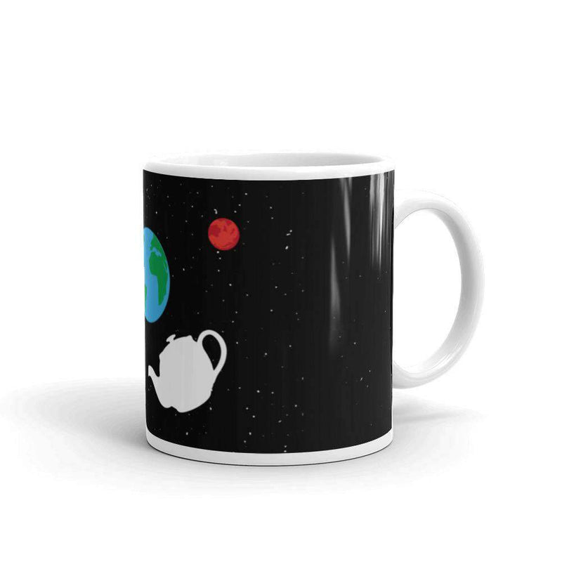 The Philosopher's Shirt Mug Russell's Teapot Floating in Space