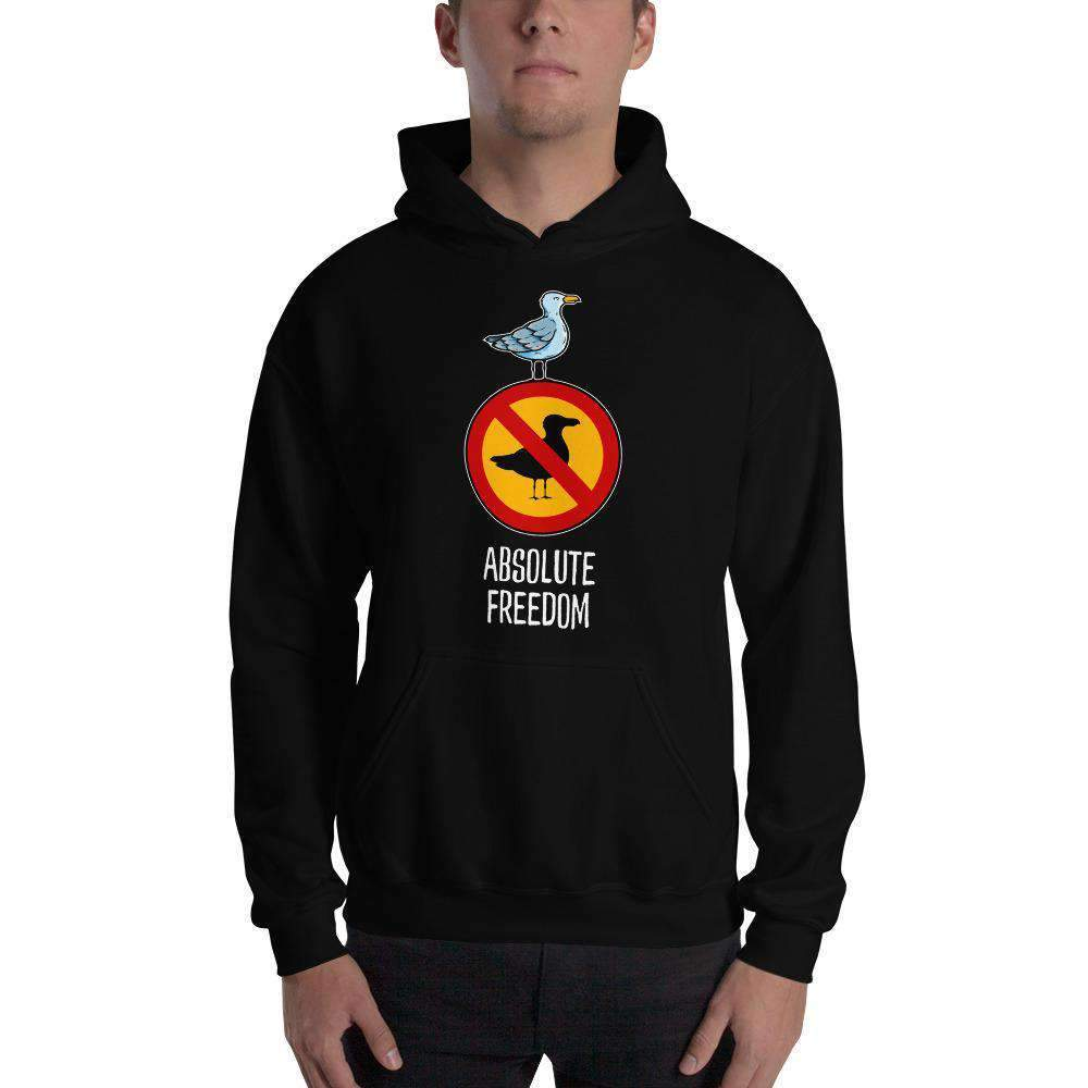 The Philosopher's Shirt Hoodie Sartre - Absolute Freedom Seagull