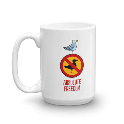 The Philosopher's Shirt Mug Sartre - Absolute Freedom Seagull
