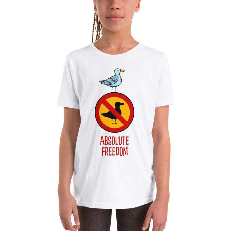 The Philosopher's Shirt Kids Shirt Sartre - Absolute Freedom Seagull