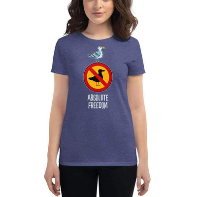 The Philosopher's Shirt Women's T-Shirt Sartre - Absolute Freedom Seagull