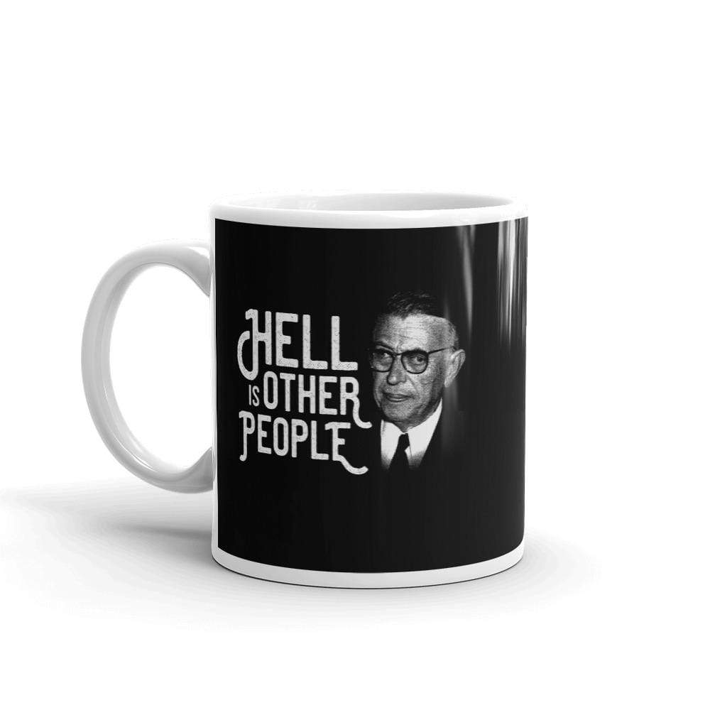 The Philosopher's Shirt Mug Sartre Portrait - Hell is other people <br><br>Mug