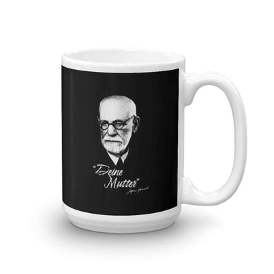 The Philosopher's Shirt Mug Sigmund Freud - Deine Mutter (DE)