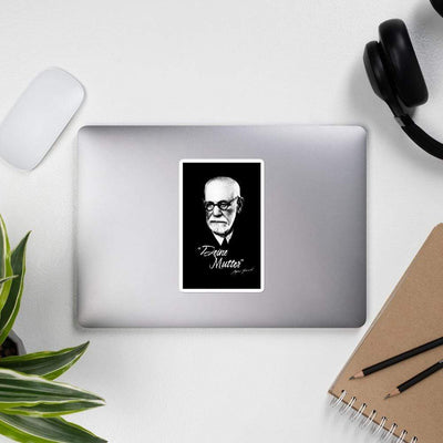 The Philosopher's Shirt Sigmund Freud - Deine Mutter (DE) <br><br>Sticker