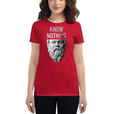 The Philosopher's Shirt Women's T-Shirt Socrates - Know Nothing