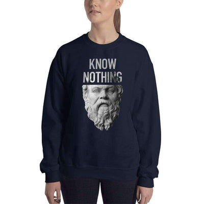 The Philosopher's Shirt Sweatshirt Socrates - Know Nothing