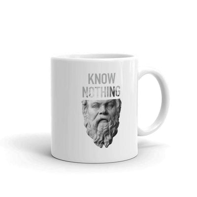 The Philosopher's Shirt Mug Socrates - Know Nothing