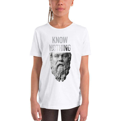 The Philosopher's Shirt Kids Shirt Socrates - Know Nothing