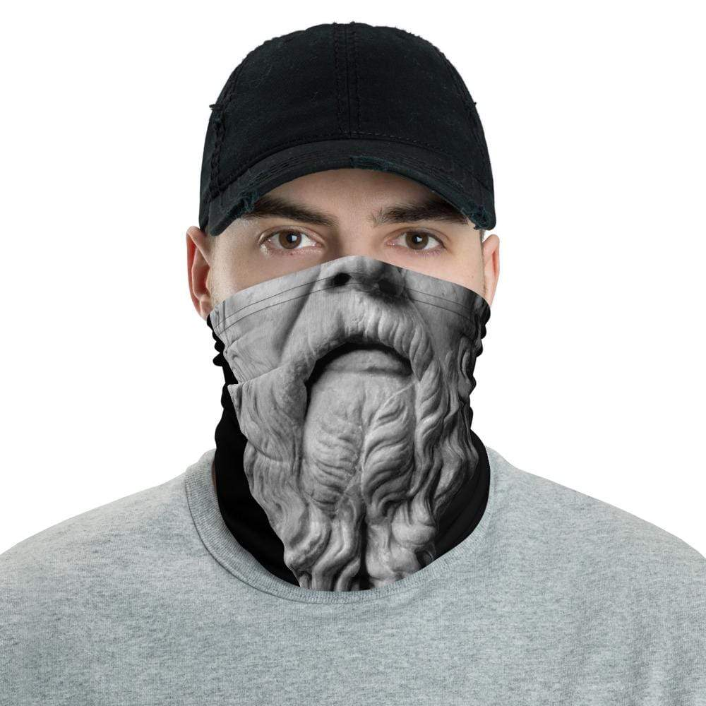 The Philosopher's Shirt Neck Gaiter Socrates - Know Nothing <br><br> Neck Gaiter