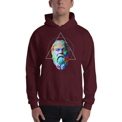 The Philosopher's Shirt Hoodie Socrates - Vivid Colours For Trippy Heads