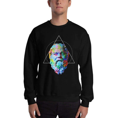 The Philosopher's Shirt Sweatshirt Socrates - Vivid Colours For Trippy Heads