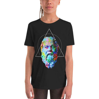 The Philosopher's Shirt Kids Shirt Socrates - Vivid Colours For Trippy Heads