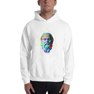 The Philosopher's Shirt Hoodie Socrates - Vivid Colours For Trippy Heads <br><br>Hoodie
