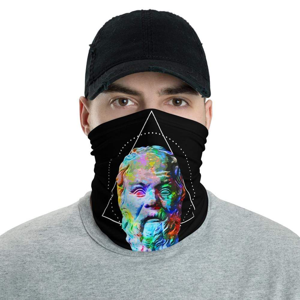 The Philosopher's Shirt Neck Gaiter Socrates - Vivid Colours For Trippy Heads <br><br>Neck Gaiter